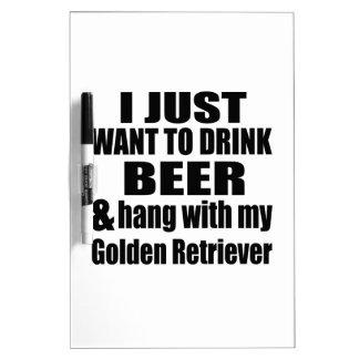 Hang With My Golden Retriever Dry Erase Board