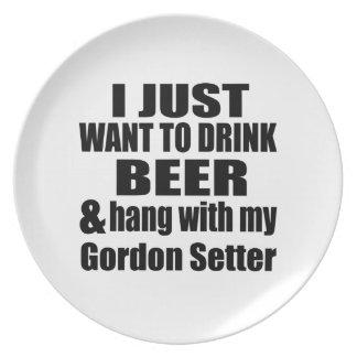 Hang With My Gordon Setter Dinner Plates