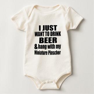 Hang With My Miniature Pinscher Baby Bodysuit