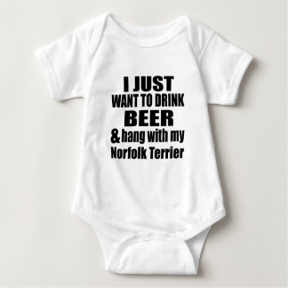 Hang With My Norfolk Terrier Baby Bodysuit