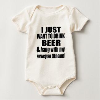 Hang With My Norwegian Elkhound Baby Bodysuit