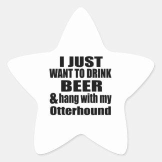 Hang With My Otterhound Star Sticker