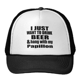 Hang With My Papillon Trucker Hat