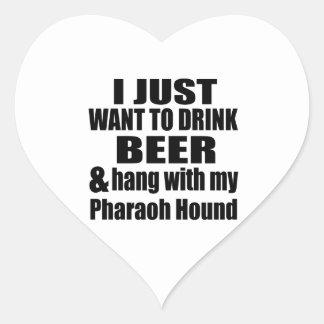 Hang With My Pharaoh Hound Heart Sticker