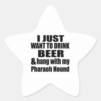 Hang With My Pharaoh Hound Star Sticker
