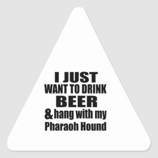 Hang With My Pharaoh Hound Triangle Sticker