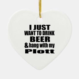 Hang With My Plott Ceramic Heart Ornament