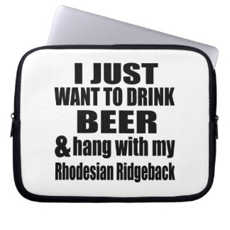 Hang With My Rhodesian Ridgeback Laptop Computer Sleeves
