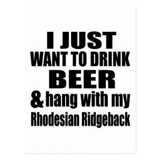 Hang With My Rhodesian Ridgeback Postcard