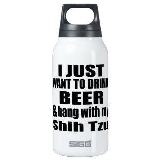 Hang With My Shih Tzu Insulated Water Bottle