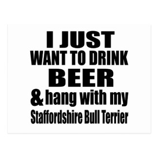 Hang With My Staffordshire Bull Terrier Postcard