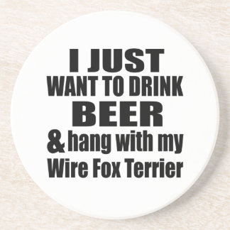 Hang With My Wire Fox Terrier Coaster