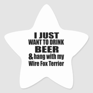 Hang With My Wire Fox Terrier Star Sticker