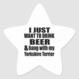 Hang With My Yorkshire Terrier Star Sticker
