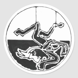 Hanged man black - Amazing Mexico Sticker