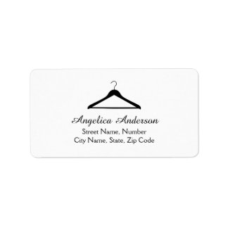 Hanger Logo Address Label