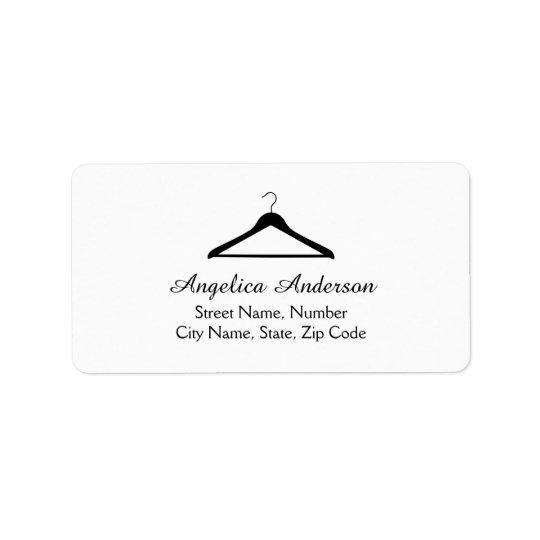 Hanger Logo Address Label