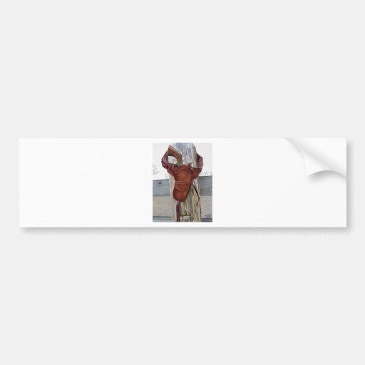 hangin out  .jpg bumper sticker