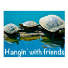 Hangin with friends postcard