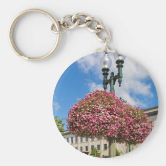 Hanging and Potted Plants in Lynden Washington Keychain
