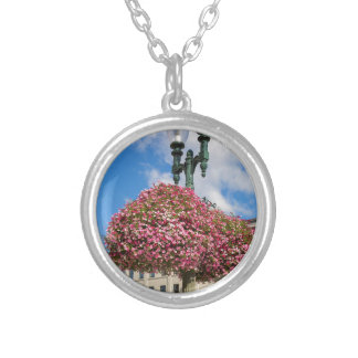 Hanging and Potted Plants in Lynden Washington Silver Plated Necklace