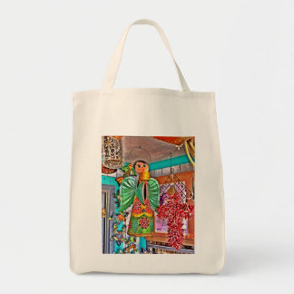 Hanging Angel Metal Art Chili Peppers Painted Frog Tote Bag