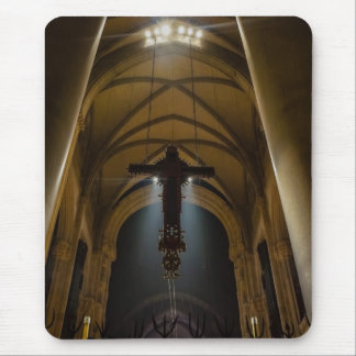 Hanging Crucifix Mouse Pad