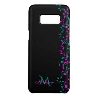 Hanging Floral Music Notes  Monogram Case-Mate Samsung Galaxy S8 Case