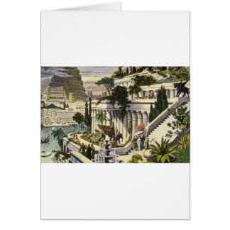 Hanging Gardens of Babylon by Maerten van Heemsker Greeting Card