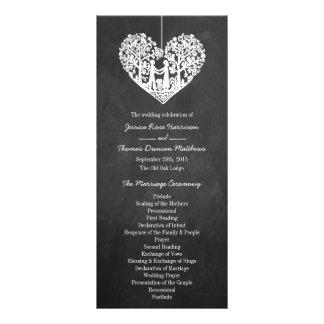 Hanging Heart Tree Chalkboard Wedding Program
