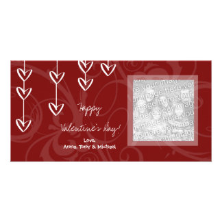 Hanging Hearts Valentine's Day Photo Cards