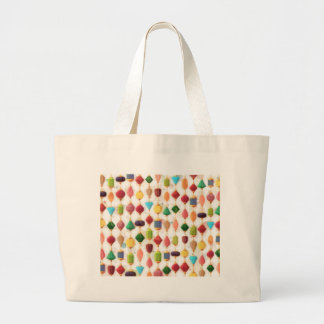 Hanging Jewels Beaded Curtain Large Tote Bag