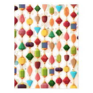 Hanging Jewels Beaded Curtain Postcard