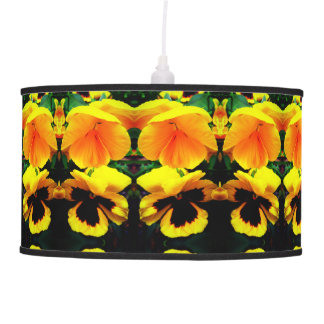 Hanging Lamp with images of Spring Flowers