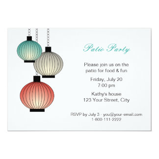 Hanging Lanterns Party Invitation