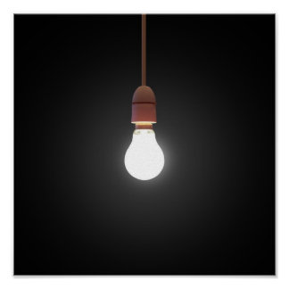 Hanging Lightbulb Poster