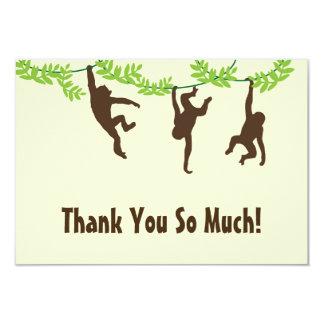 Hanging Monkey Thank You Card