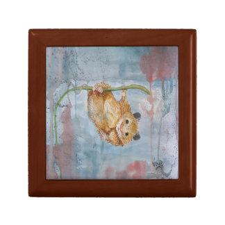 Hanging Mouse Watercolour Jewelry Keepsake Box