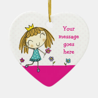♥ HANGING ORNAMENT ♥ cute princess pink polka dot