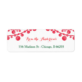 Hanging Ornaments Christmas Address Label