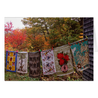 """Hanging Out"" No. 2  CARD Autumn Clothesline"