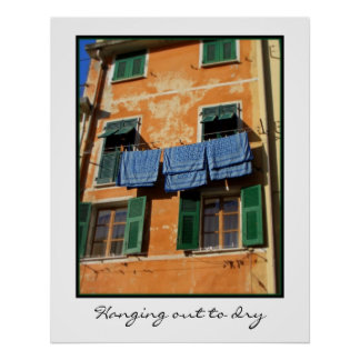 Hanging out to dry poster
