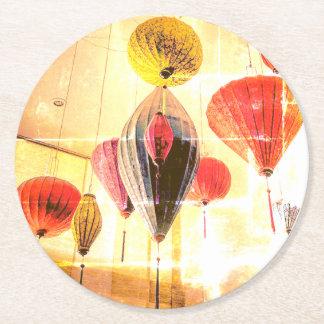 Hanging Paper Balloons Round Paper Coaster