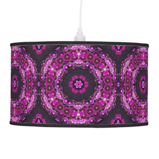 Hanging Purple grapes abstract accent Lamp