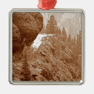 Hanging Rock Silver-Colored Square Ornament