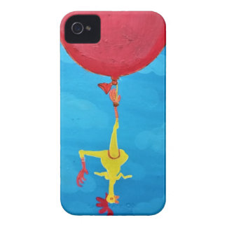 Hanging rubber chicken iPhone 4 case