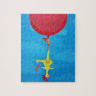Hanging rubber chicken jigsaw puzzle