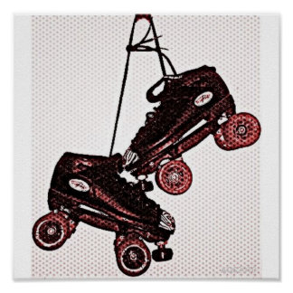 Hanging Skates Pop Art Dubbed Poster