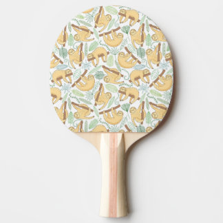 Hanging Sloths Ping-Pong Paddle