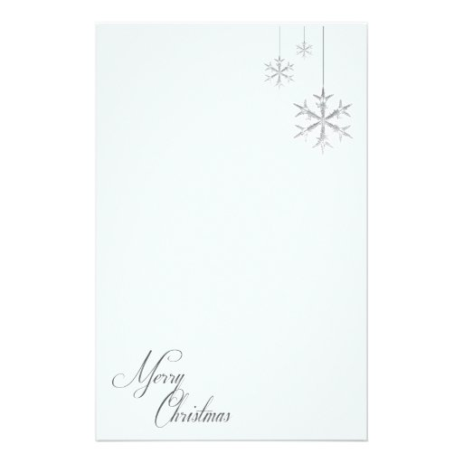 Hanging Snowflakes (blue) Stationery Design
